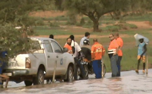 team from Avocet owned gold mine in Burkina Faso at the scene of the potential cyanide emergency