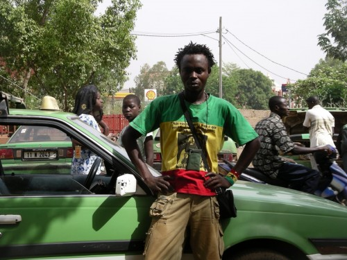 A reggae musician on the streets of Ouagadougou
