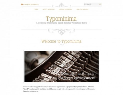Typominima - a typography wordpress theme for writers and authors