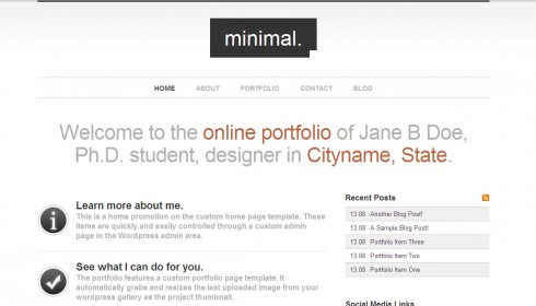 Minimalist WordPress theme - a beautiful classy white theme for writers and authors