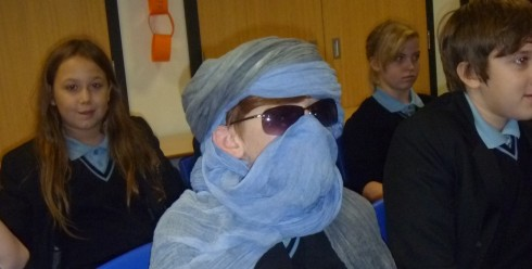 Tuareg reader at the Regis School