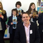Children's author visits Hampshire Book Award Students