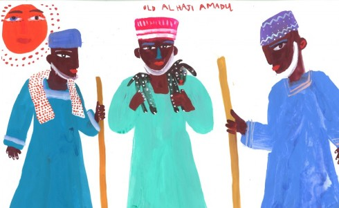All Haji Amadou character study by Christopher Corr for THE GOGGLE EYED GOATS by Stephen Davies