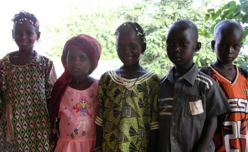 Fulani children in their best clothes for the Festival of the Breaking of the Fast