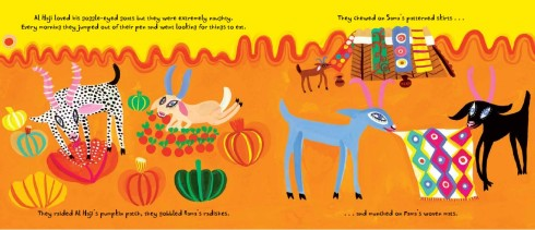Spread 2 from the Goggle-Eyed Goats by Stephen Davies and Christopher Corr