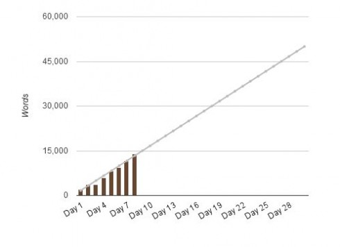 On target so far with NaNoWriMo